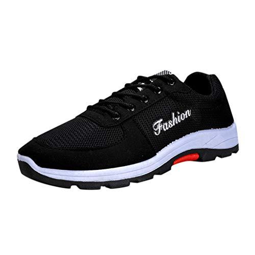 Xmiral Scarpe Antinfortunistiche Uomo Sneaker da Lavoro Leggere ed Eleganti Scarpe da Corsa da Uomo Casual 39 Nero