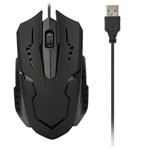 Gaming Wired Mäuse,QinMM Für PC Laptop 1200 DPI USB verdrahtete optische Gaming Mäuse Ergonomisches Design Für Haus, Büro -