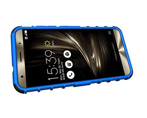 Qiaogle Telefon Case - Shockproof TPU + PC Hybrid Ständer Schutzhülle Case für Apple iPhone 5 / 5G / 5S / 5SE (4.0 Zoll) - HH08 / Orange HH02 / Blau