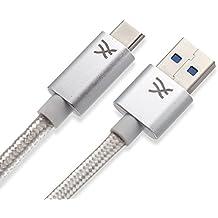 Cablesson Maestro USB C a USB A Cable de 0,5 m (0,5 m) (C a A) para Samsung S8, Nintendo Switch, el nuevo MacBook, Chromebook Pixel, Nexus 5X, Nexus 6P, Nokia N1 Tablet, OnePlus 2 y más USB Tipo- C Dispositivos.