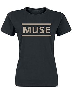 Muse Logo Camiseta Mujer Negro