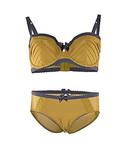 Marks and Spencer Balcony Bra Ochre Silver Trim (32-36) (B-D) and or Knickers (12-14)