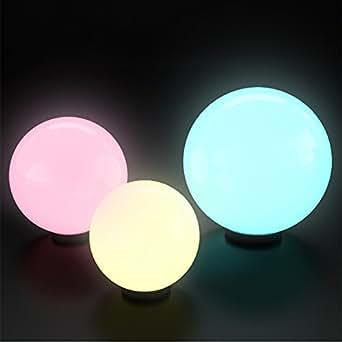 Kugelleuchte 3er Set Farbwechsel Lampe Lichtkugel Kugellampe Gartenleuchte Gartenlampe Set 20/30/40cm wahlweise mit RGB LED (Farbwechsel)