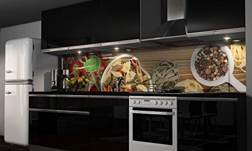 """Küchenrückwand Folie selbstklebend """"Noodles"""" Klebefolie Dekofolie Spritzschutz Küche verschiedene Größen"""