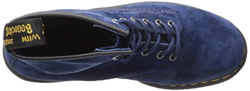 Dr Martens 1460 Indigo Soft Buck, Bottes Unisexe Pour Adultes Bleu (indigo)
