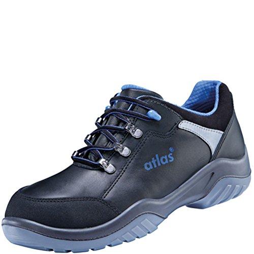 Atlas Chaussures basses de sécurité ESD Ergo de Med 465Large XP Blueline dans 10après en ISO 20345S3SRC de Noir
