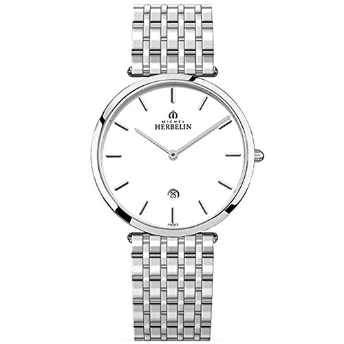 Michel Herbelin Epsilon Homme 38mm Saphire Quartz Montre 19416/B11