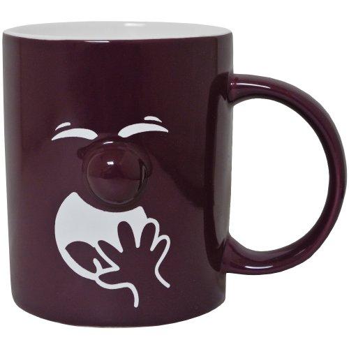 Promobo Tasse pour café (céramique), motif en relief de sourire