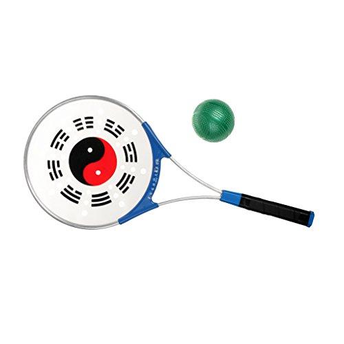 Tai Chi Tennis Set mit Aluminum Schläger und Silikon Kugel, Übung Entspannung Chinesisch Sportarten