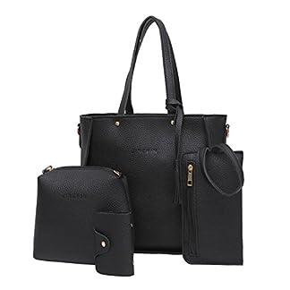 Handbag, Shoulder Bags,TUDUZ Women Fashion Casual Four Set tassel Handbag Shoulder Bags Four Pieces Tote Bag Messenger… 24