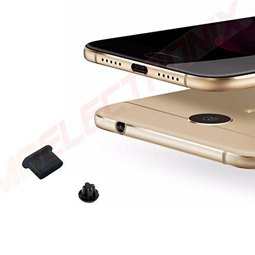 4x USB 3.1 Typ C Staub Schutz SCHWARZ Kopfhörer Kappe Stöpsel Type C für Huawei Nova Dual-Sim
