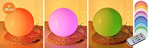 Gravidus dekorative Kugelleuchte mit Fernbedienung und Farbwechsel