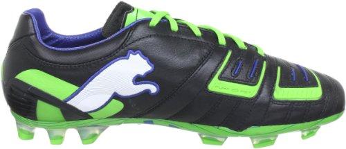 Puma  PowerCat 1 FG, Chaussures de football homme Noir - Schwarz (black-jasmine green-monac 01)