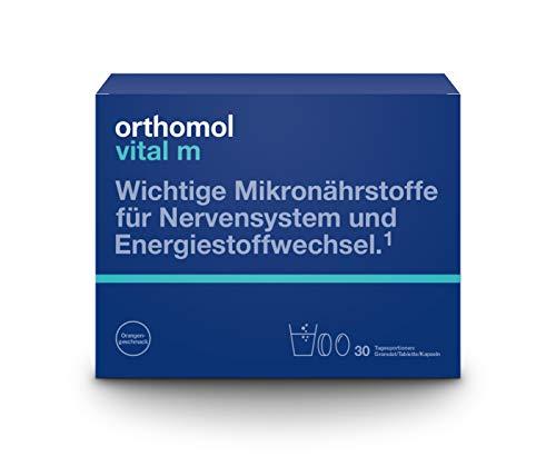 Orthomol vital m 30er Granulat, Tablette & Kapseln, Orange - Vitamin Komplex für Männer bei Müdigkeit & Erschöpfung