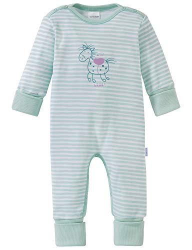 Schiesser Mädchen Zweiteiliger Schlafanzug Ponyhof Baby Anzug mit Vario, Grün (Mint 708), 68 (Herstellergröße: 068)