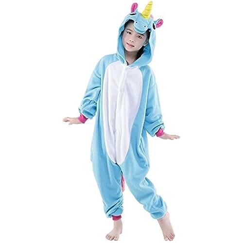 pijama de unicornio kawaii Rainbow Fox Niños Unicornio Pijama Monos Dibujos animados Animal Disfraz Cosplay Ropa por Niños