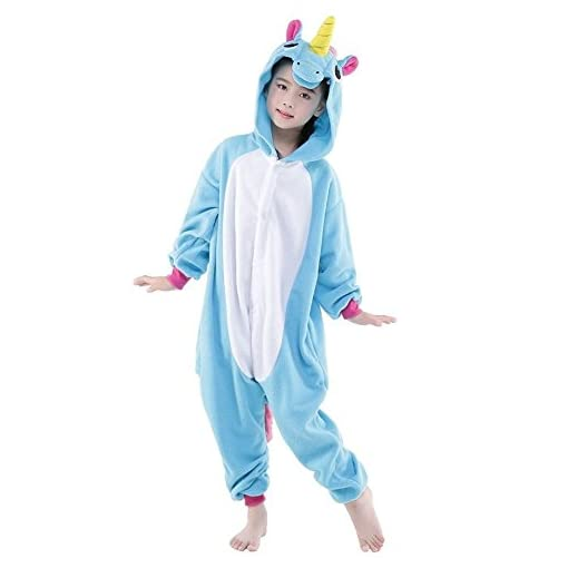 Rainbow-Fox-bambini-Unicorno-Pigiama-tute-cartone-animato-Animale-Costume-Cosplay-Abiti-Per-Bambini-inferiore-di-140-centimetri-in-Altezza