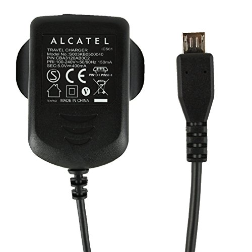 genuine-alcatel-black-400-mah-3-pin-micro-usb-mains-charger-suitable-for-alcatel-pixi-3-45-pixi-firs