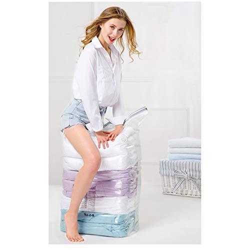 Sac de rétrécissement d'aspiration gratuit Quilt Tridimensionnel Vêtements Sac sous vide de ménage grande capacité Économiser de l'espace Transparent Facile Trouver