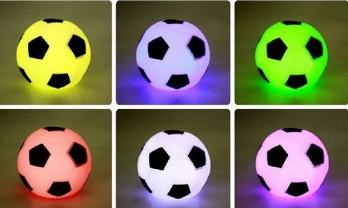 Nalmatoionme, lampada led a forma di pallone da calcio
