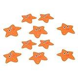 Gazechimp 10 Stück Stern Anti-Rutsch Sticker – Mehr Sicherheit für Ihre Dusche und Badewanne. orange Antirutsch-Aufkleber Ø 14 cm.