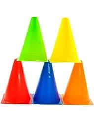 merlinae Indoor/Outdoor agilidad conos cono de fútbol, y flexible conjuntos, varios colores y # xFF08; Naranja, Rojo, Amarillo, Verde, y azul y # xFF09; Y # xFF0C; 20/Set