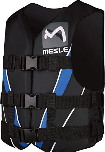 MESLE Schwimmweste Vario PE, 50N Dual-Size Schwimmhilfe, schwarz-blau-weiss, Größen:M