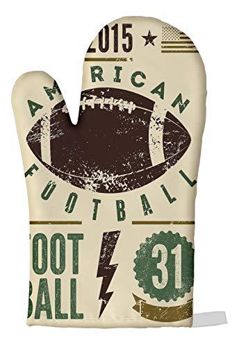 LEotiE SINCE 2004 Ofen Topf Handschuh Retro American Football Bedruckt
