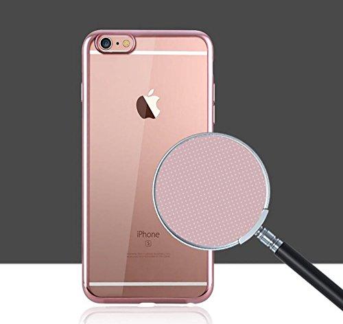 Bumper pour iPhone 6S Plus Étui luxe aspect cristal galvanoplastie Technologie aspect métal, Gunmetal, 158.1x77.8x7.1mm rose gold