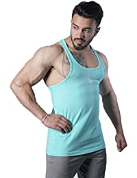 GreyWolf Arch Stringer Mint Green Men's Vest For Sports / Gym (Muta_Mint Green_Vest06)