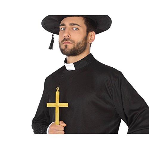 Mela Proibita CROCE DORATA ornamento CHIESA suora prete Costume Uomo adulto halloween 21cm - Oro, Unica