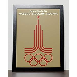 Plakat der Olympischen Spiele Poster – Moscow 1980