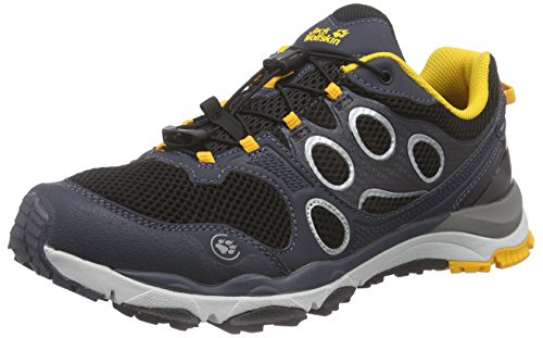 Jack Wolfskin TRAIL EXCITE LOW M, Herren Outdoor Fitnessschuhe, Schwarz (burly yellow 3800), 45.5 EU (11 Herren UK)