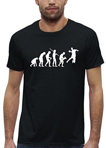 Handballer EM WM Premium Herren T-Shirt aus Bio Baumwolle EVOLUTION HANDBALL Stanley Stella Black