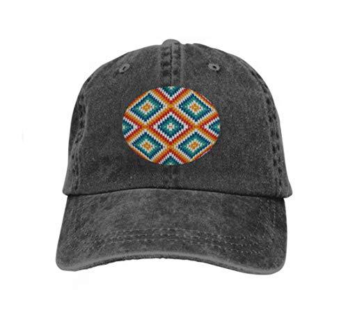 Classic Cotton Dad Hat Adjustable Plain Cap Custom Denim Baseball Cap for Adult Ethnic Style Chevron Lines Native Americans Ornament tribal Black Tiger Chevron Print