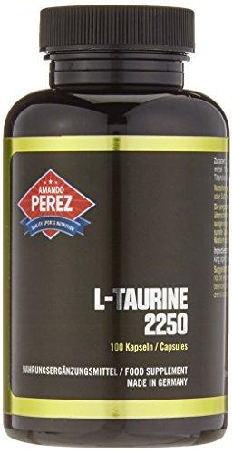 L-Taurin - 2250 mg pro Dosis - 100 Kapseln - Schlüssel-Aminosäure - bioverfügbare und hochkonzentrierte L-Taurin Formel