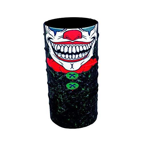 ZaPro HD Druck Premium - Multifunktionstuch - Verschiedene Designs Bedrucktes Halstuch Motorrad Sommer Frühling Totenkopf Skull Fastnacht Bunt Maske Joker Buff Tuch Venom (Crazy Clown) (Clown Joker Masken)