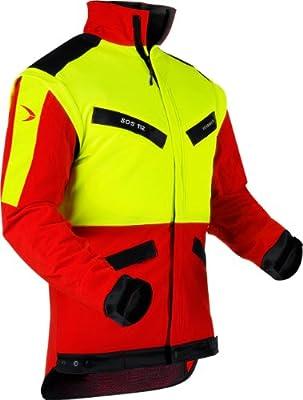 Pfanner atmungsaktive Forstjacke ZipOff mit CORDURA®, Farbe:gelb;Größe:XL