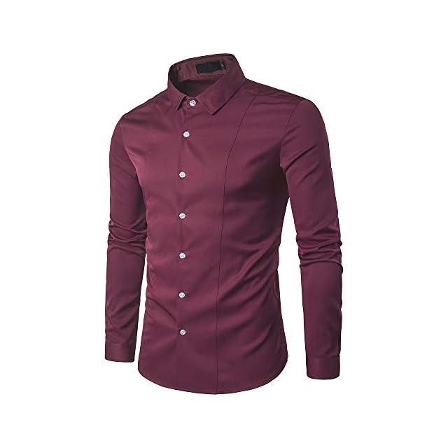 Kayhan Homme Chemise Slim Fit Repassage Facile Coton Manches Longues Modell UNI S-6XL Chemises T-shirts, polos et chemises