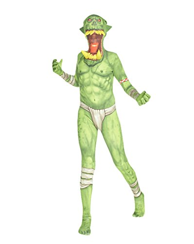 (Morphsuits Grüner Ork Klapp-Kiefer Kinder Monster Faschingskostüm - Size Large 4'1-4'6 (123cm-137cm))