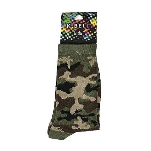 K. Bell Socks Big Boys' Camouflage Crew 1Pair One Size