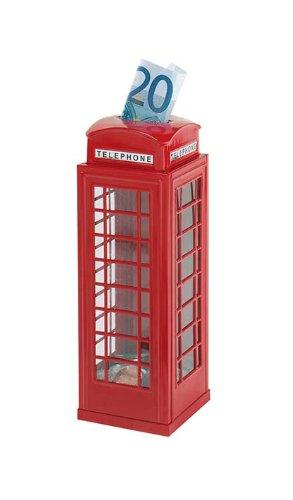 Spardose mit Telefonzellendesign (Britische Telefonzelle Dekor)