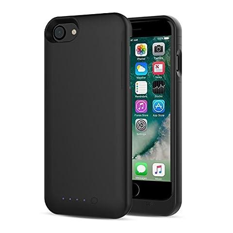 [Apple MFi Certified] MoKo iPhone 7 Batterie Chargeur Etui - Etui Housse de Protection avec Chargeur de Batterie Externe Rechargeable 3200mAh pour iPhone 7 / 6s / 6 4.7 Pouces, Noir
