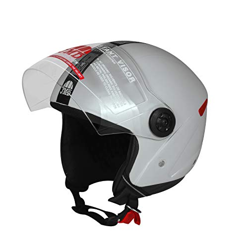 JMD GRAND NEW ISI (Reflector) Unisex Half/Open Face Helmet (Grey M/L)