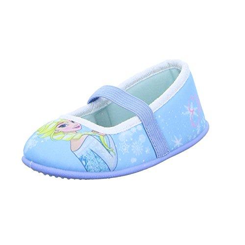 Leomil Kinder Hausschuh FZ003689 Mädchen Ballerina Disney Frozen Elsa Blau, Größe 26 (Elsa-hausschuhe Für Mädchen)