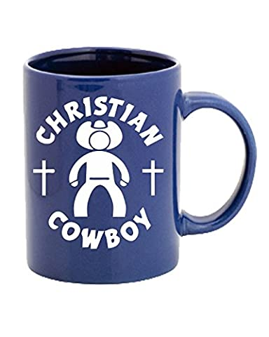 T-Shirtshock - Tasse Mug 11oz FUN1003 christian cowboy die cut vinyl decal sticker 51860, Taille 11oz