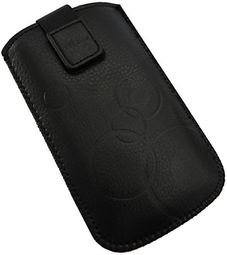 Handyschale 24 Slim Case für Bea-Fon SL470 Handyschale Schwarz Schutzhülle Tasche Cover Etui mit Klettverschluss