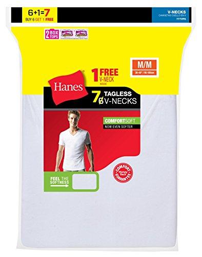 Herren Wei? Tagless ComfortSoft V-Neck Unterhemd (7-Pack) - Hanes T-shirt Sweatshirt
