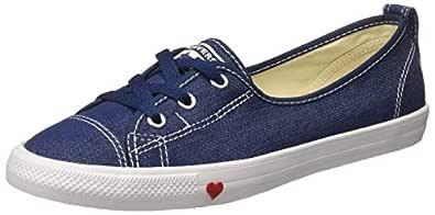 Converse Women's Textile Indigo/White/Enamel Red Sneakers-5 UK/India (37.5 EU) (8907788166282)