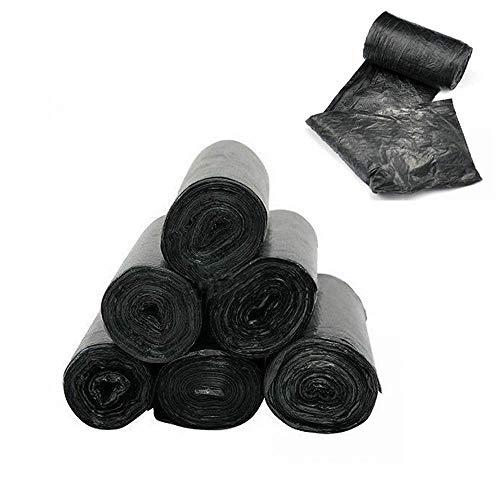 50 CM Müllsack Kunststoff Müll Korb Abfall Beutel Mülleimer Taschen Portable Für Haushalt und Büro Schwarz ()
